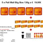 1. 5 x Pall Mall Big Box 130g a € 19,95€ Tobacco & More Hamburg