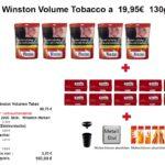 1. 5 x Winston Volume Tobacco a 19,95€ 130gr.