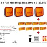 2. 4 x Pall Mall Mega Box 210g a € 29,95€