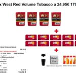 2. 4 x West Red Volume Tobacco a 24,95€ 170g