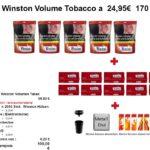 2. 4 x Winston Volume Tobacco a 24,95€ 170 gr.
