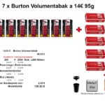 2. 7 x Burton Volumentabak Tobacco & More Hamburg