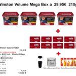 3. 4 x Winston Volume Mega Box a 29,95€ 210gr.