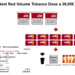 4. 3 x West Red Volume Tobacco Dose a 39,95€ 290g