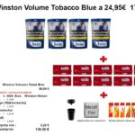 4. 4 x Winston Volume Tobacco Blue a 24,95€ 170 gr.