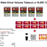 5. 5 x West Silver Volume Tobacco a 19,95€ 130g Tobacco & More Hamburg